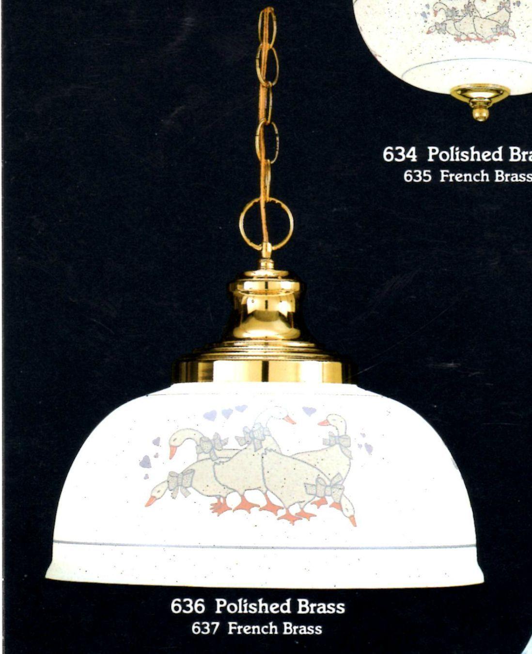 COUNTRY 1-Light Weiß Duck Design PENDANT Ceiling FIXTURE NEW  636