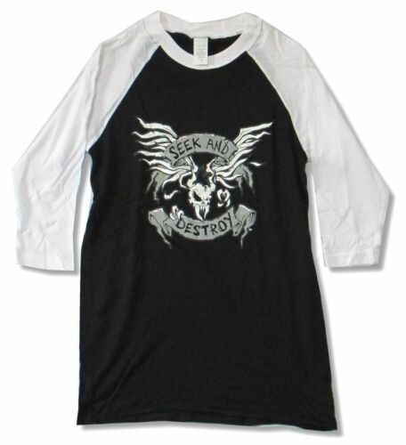 Metallica Seek /& Destroy 2009 Tour Jersey Raglan Shirt New Official SR