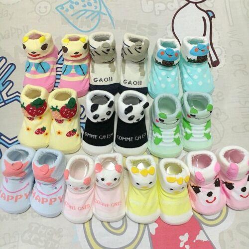 4Pairs Cartoon Kids Boys Girls floor socks Cotton Breathable Toddlers baby Sock