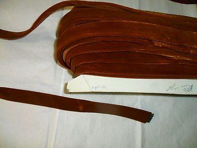 Leaf Amber Rust Green Grass Trim for Hat or Hair K28 Vintage Millinery Flower