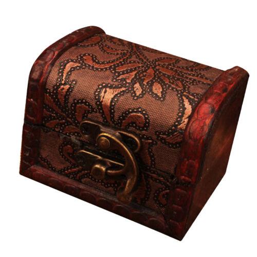 Retro Stil Schmuck Box Veranstalter Aufbewahrungsbox Holz Kunst Sammlung