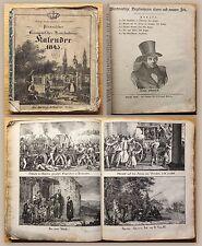Pirnaischer Oeconom.-Haushaltungs-Kalender 1845 Kalendarium mit Lithografien xz