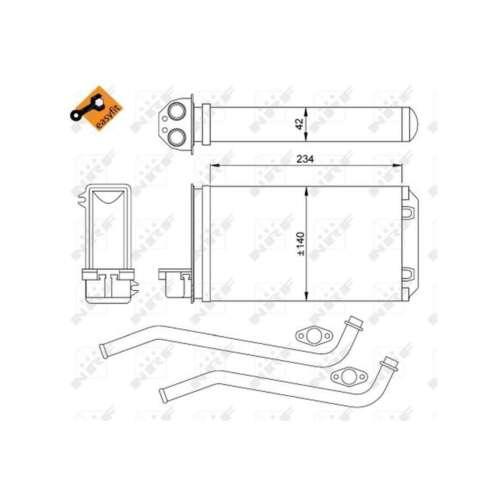 Fits Peugeot 309 MK2 1.9 D Genuine NRF Heat Exchanger Interior Heater Matrix