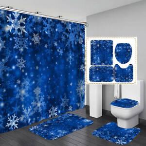Cartoon Nautical Shower Curtain Bath Mat Toilet Cover Rug Bathroom Decor