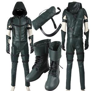 Green Arrow Season 4 Oliver Queen Cosplay Costume Costume ...
