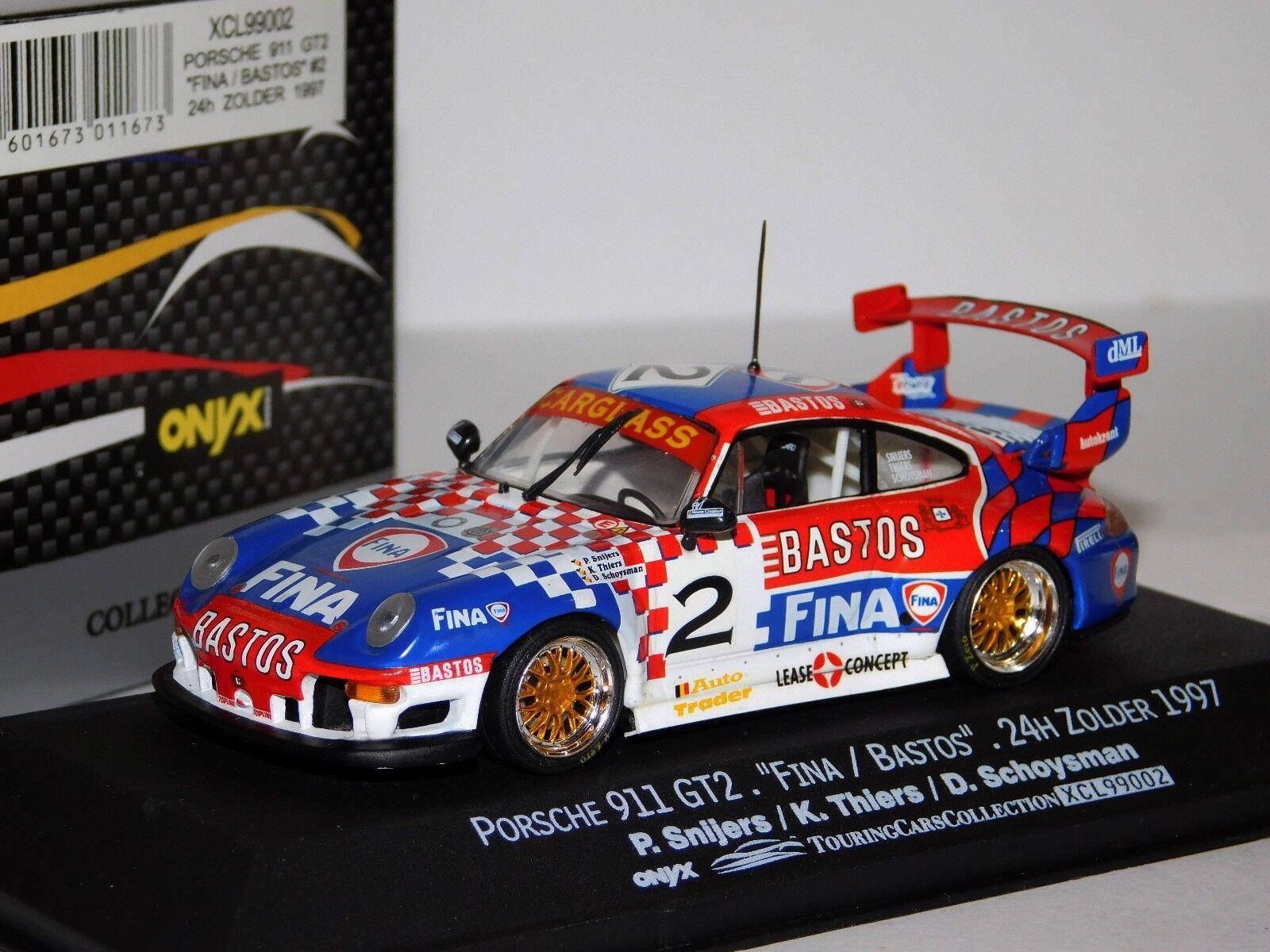 PORSCHE 911 GT2 FINA ZOLDER ZOLDER ZOLDER 1997 SNIJERS ONYX XCL99002 1 43 536b5f