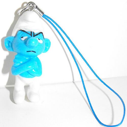 Angry or Grouchy Smurf 3D Figure Charm Purse Hanger Bag Dangler by Cool Things