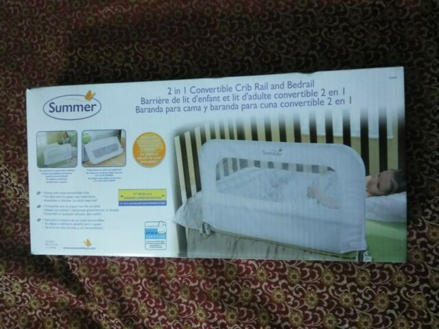 Summer Infant 2-in-1 Convertible Crib Rail and Bedrail 33in wide 18in tall NIB!!