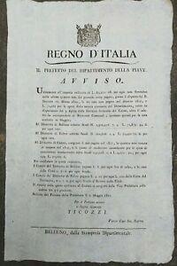 1810-BANDO-NAPOLEONICO-SU-TASSE-SULLA-CASA-A-FELTRE-BELLUNO-E-NEL-CADORE