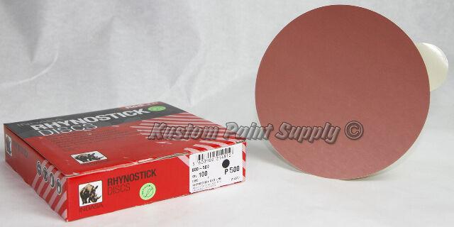INDASA 500 Grit 6'' Sticky Back DA Sandpaper Rhynostick 600-500 (100 Sheets/Box)