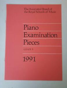 Abrsm Piano Examination Pieces 1991 Grade 5-afficher Le Titre D'origine Soyez Amical Lors De L'Utilisation