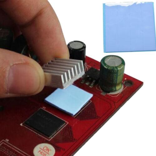 100x100x1mm Blue Heatsink Cooling Thermal Conductive Silicone Pad Cooler Mat JB
