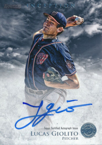 Lucas Giolito White Sox 2013 Bowman Inception Autographed Auto Signed Rookie rC