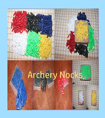 25 spare nocks 5.5 mm hunting target arrow nocks BLACK PACK OF 25 PIECES