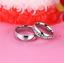 Anello-Anelli-Coppia-Fedi-Fede-Fedine-Fidanzamento-Acciaio-Cristallo-Paio-Regalo miniatura 3