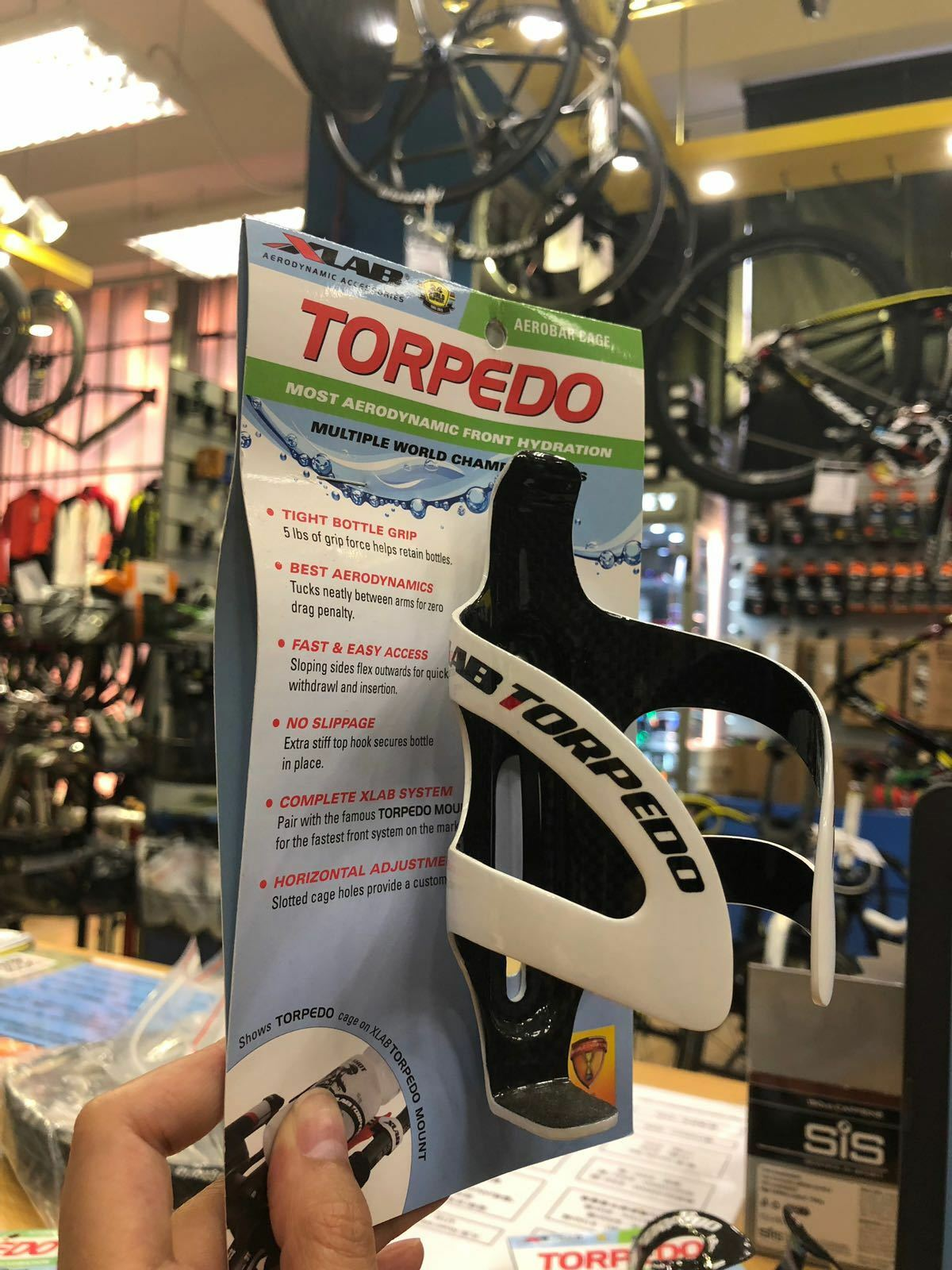 XLab Torpedo Carbon Bottle  Cage (White)  shop online today