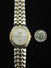 French Gerrard Phillipe Men's Watch Stainless & Gold Swiss 7 Jewel
