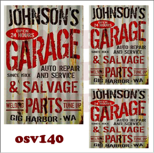 WEATHERED PEEL /& STICK BUILDING SIGN DECALS O SCALE AUTO SALVAGE GARAGE OSV140
