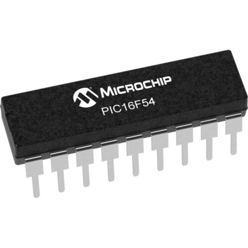 PIC16F54-I//P 8-Bit-Microcontroller 20MHz 512x12 Bit Flash 12 I//O DIP18