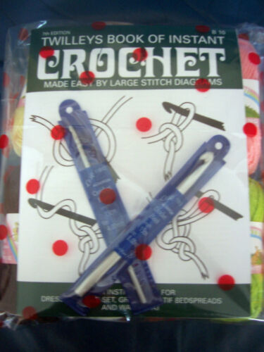 LEARN TO CROCHET STARTER SET **GIFT WRAPPED** WOOL,HOOKS /& BOOK IDEAL GIFT**