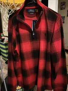 Polo-RALPH-LAUREN-karierte-Buffalo-Plaid-Estate-Baumwolle-Pullover-Herren-Medium