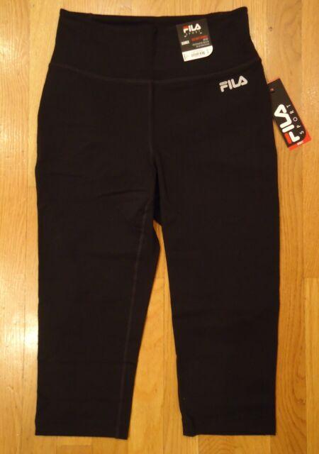 252da644dc9b Womens Medium Leggings FILA Sport High Waist Capris Black Workout M ...