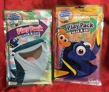 2- Disney Finding Dory Play Pack Grab & Go Coloring Book Crayons Stickers Travel