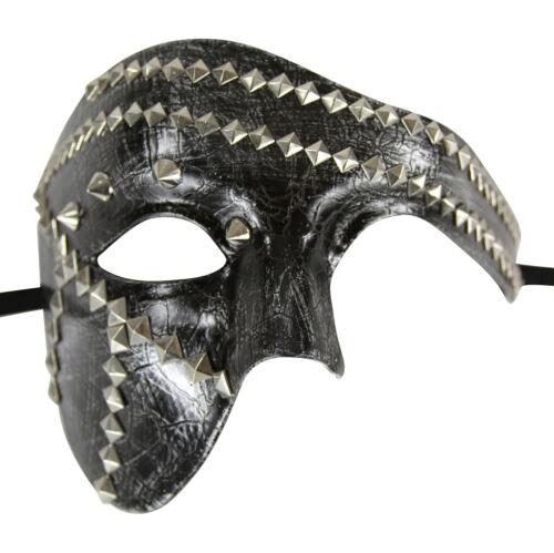 Vintage Steam Punk Costume Masquerade Mask with Studs Phantom Opera Style