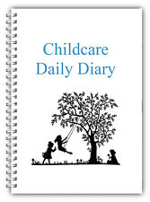 EYFS 1 X CHILDCARE DAILY DIARIES CH R CHILDMINDER DAILY RECORD KEEPING BOOK
