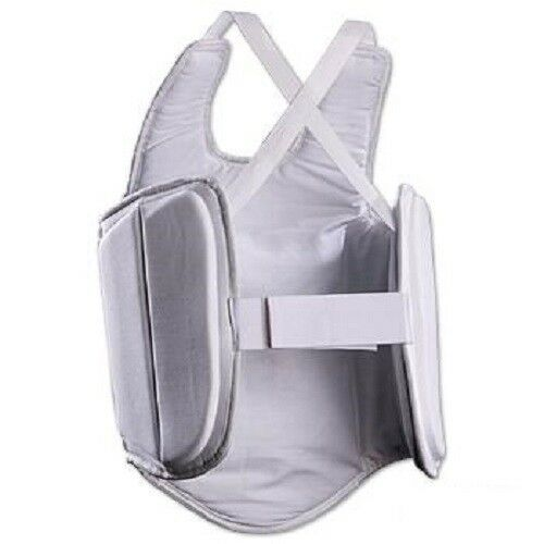 White Ultra Lite Chest Guard Body Protector for Karate Tae Kwon Do Youth Adult