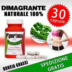 Piperinox Integratore per Dimagrire Naturale Brucia Grassi Perdita Peso Piperina