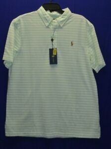 Polo Ralph Lauren Men/'s White Knit Oxford Classic Fit Short Sleeve Polo Shirt XL