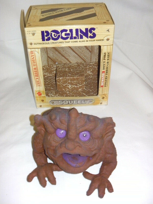 BOGLINS SQUEEL 1987 HAND PUPPET RARE MATTEL EXCELLENT CONDITION WITH BOX