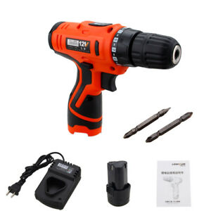 12V-Li-Ion-Cordless-Electric-Hammer-Drill-Driver-Hand-1-Speed-LED-Light-Charger