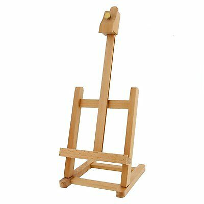 ARTIST TABLE TOP EASEL 34cm ADJUSTABLE WOODEN BEECH FOR DISPLAY /& PAINTING B34