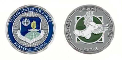 AIR FORCE SURVIVAL SCHOOL SURVIVAL ESCAPE EVASION RESISTANCE  CHALLENGE COIN