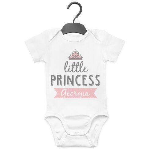 LITTLE PRINCESS PERSONALISED BABY GROW VEST CUSTOM FUNNY GIFT CUTE GIRLS