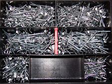 Blindnieten Sortiment Alu/Stahl 700 Teile Set Satz Din 7337 2,4-3,0 Flachkopf