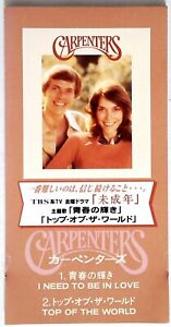 Carpenters-I-Need-To-Be-In-Love-Top-Of-The-World-JAPAN-3-034-3-INCH-CD-Single