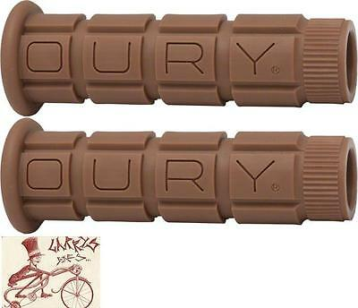 Oury classic MTB mountain bike bicycle grip MUDDY BROWN comes with sticker