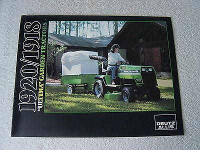 Deutz Allis IT Shop 1920 Lawn and Garden Tractor Service Manual