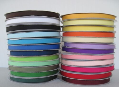 "3//8/"" Grosgrain Ribbon Solid Color U Pick color 10 Yards"