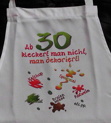 30 Geburtstag klecker Schürze für Erwachsene Scherzartikel Grill Koch Gag