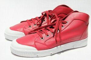 Spring Court Bright B4 Nappa Leather White Red Men's Sneakers ZiTOkXuPlw