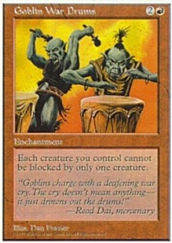 4x Goblin War Drums Magic the Gathering 5th édition near Comme neuf Magic Regular