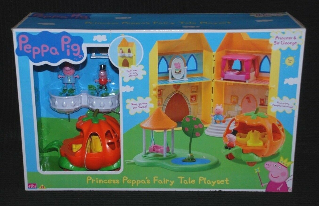 Peppa Pig Princess Peppa's Fairy Tale Playset inc 2 Figures & Carriage BNIB