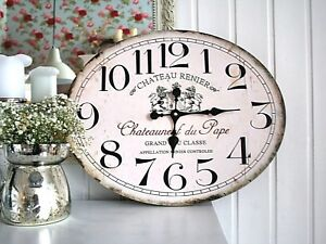 """** Wanduhr """"Chateau Renier"""" aus Holz ** Shabby Antik Landhaus antik Uhr"""