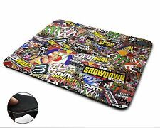 Stickerbomb NUOVO Premium Qualità flessibile gomma Tappetino Mouse / Mouse Pad