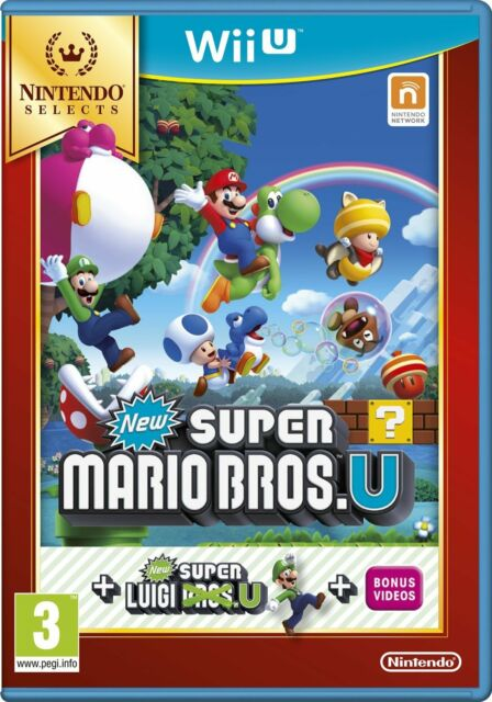 New Super Mario Bros. U Plus New Super Luigi U Select (Nintendo Wii U) NEW