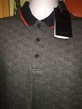 Authentic Gucci Polo, T- Shirt, Short Sleeve, Black,100% Cotton M,l & Xl